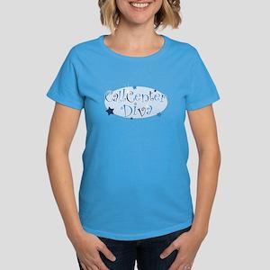 Call Center Diva [blue] Women's Dark T-Shirt